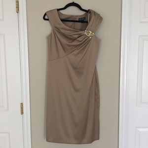 Gold Jessica Howard Cocktail Dress